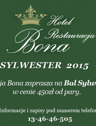 Sylwester 2015 w Restauracji BONA