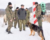 Sekretarz Stanu w MSWiA oraz Komendant Główny SG wizytowali granicę polsko-ukraińską (ZDJĘCIA)