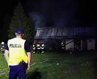 USTRZYKI24.PL: Pożar w Łodynie. Straty sięgają 50 tysięcy złotych