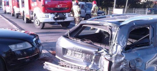 HUMNISKA: Zdarzenie z udziałem dwóch osobówek i ciężarówki (FOTO)