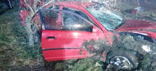 """AKTUALIZACJA: Groźny wypadek. Pijany kierowca hondy wyprzedzał """"na trzeciego"""" (FOTO)"""