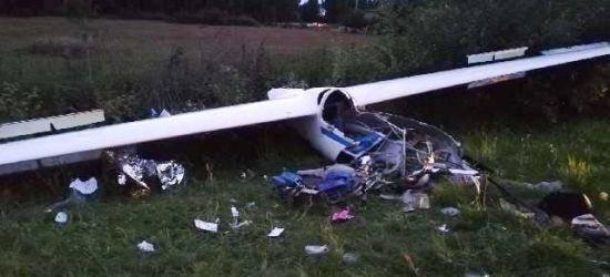 PODKARPACIE. Wypadek szybowca! 18-letni pilot w ciężkim stanie (ZDJĘCIA)